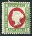 N°09-1869-HELIGOLAND-VICTORIA-1 1/2S-VERT ET CARMIN