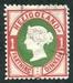 N°10-1875-HELIGOLAND-VICTORIA-1PF-CARMIN ET VERT
